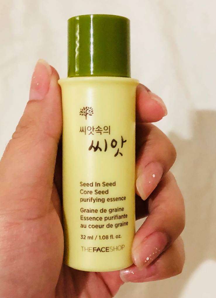 [MINI SAMPLE REVIEW] Brightens Results From The Face Shop Core Seed Purifying Essence Mini Size 32ml-Innisfree-Laneige-Hera-Missha-Sulwhasoo-Etude House-Clio-Peripera-Holika